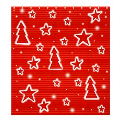 Red Xmas Shower Curtain 66  x 72  (Large)