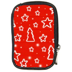 Red Xmas Compact Camera Cases