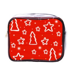 Red Xmas Mini Toiletries Bags