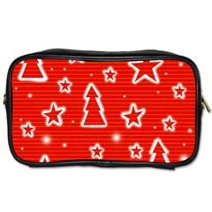 Red Xmas Toiletries Bags