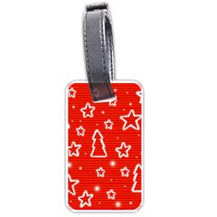 Red Xmas Luggage Tags (One Side)