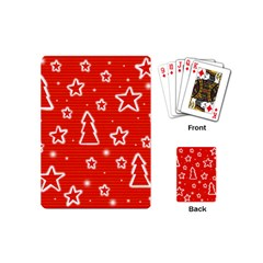 Red Xmas Playing Cards (Mini)