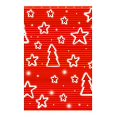 Red Xmas Shower Curtain 48  x 72  (Small)