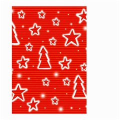Red Xmas Small Garden Flag (Two Sides)
