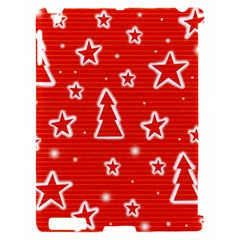 Red Xmas Apple iPad 2 Hardshell Case (Compatible with Smart Cover)