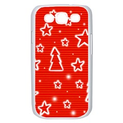 Red Xmas Samsung Galaxy S III Case (White)