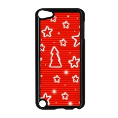 Red Xmas Apple iPod Touch 5 Case (Black)