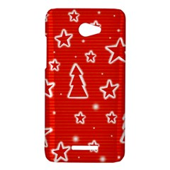 Red Xmas HTC Butterfly X920E Hardshell Case