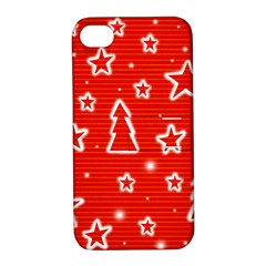 Red Xmas Apple iPhone 4/4S Hardshell Case with Stand
