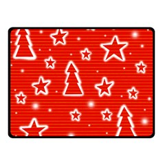 Red Xmas Double Sided Fleece Blanket (Small)