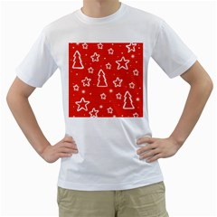 Red Xmas Men s T-Shirt (White)