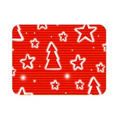 Red Xmas Double Sided Flano Blanket (Mini)