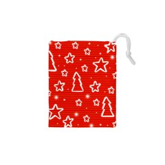 Red Xmas Drawstring Pouches (XS)