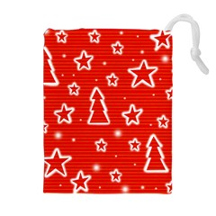 Red Xmas Drawstring Pouches (Extra Large)