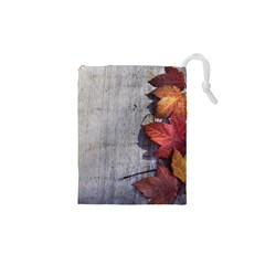 Fall Leaves Drawstring Pouch (xs)