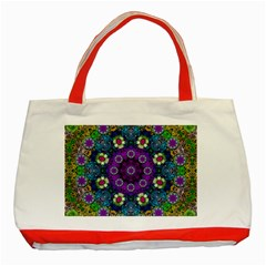 Colors And Flowers In A Mandala Classic Tote Bag (red)