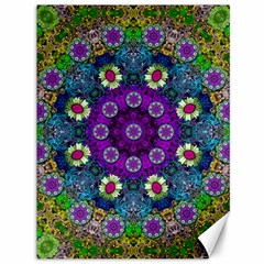 Colors And Flowers In A Mandala Canvas 36  X 48