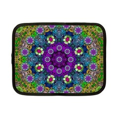 Colors And Flowers In A Mandala Netbook Case (small)