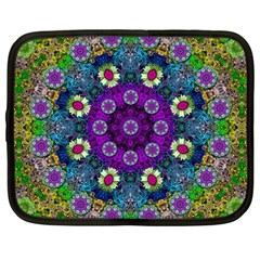 Colors And Flowers In A Mandala Netbook Case (large)
