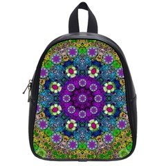 Colors And Flowers In A Mandala School Bags (small)