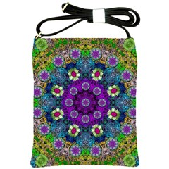 Colors And Flowers In A Mandala Shoulder Sling Bags
