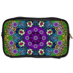 Colors And Flowers In A Mandala Toiletries Bags