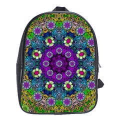 Colors And Flowers In A Mandala School Bags (xl)