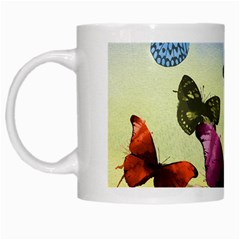 Butterfly Painting Art Graphic White Mugs