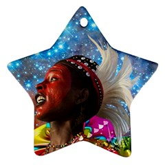 African Star Dreamer Star Ornament (two Sides)