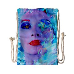Swimming Into The Blue Drawstring Bag (small)