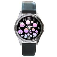 Pink elegance  Round Metal Watch