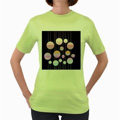 Pink elegance  Women s Green T-Shirt
