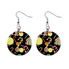 Xmas candies  Mini Button Earrings