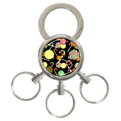 Xmas candies  3-Ring Key Chains