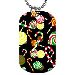 Xmas candies  Dog Tag (Two Sides)