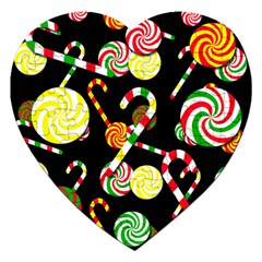 Xmas candies  Jigsaw Puzzle (Heart)