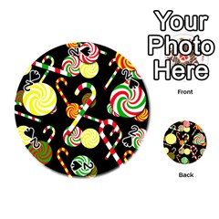 Xmas candies  Playing Cards 54 (Round)