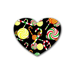 Xmas candies  Heart Coaster (4 pack)