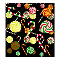 Xmas candies  Shower Curtain 66  x 72  (Large)