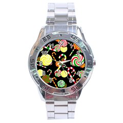 Xmas candies  Stainless Steel Analogue Watch