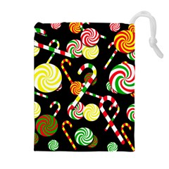 Xmas candies  Drawstring Pouches (Extra Large)
