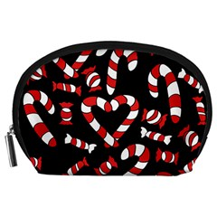 Christmas Candy Canes  Accessory Pouches (large)