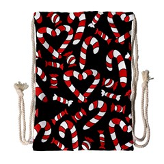 Christmas Candy Canes  Drawstring Bag (Large)