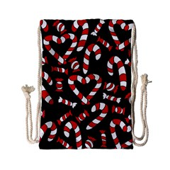 Christmas Candy Canes  Drawstring Bag (Small)