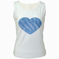 Wavy Clouds Women s White Tank Top