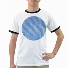 Wavy Clouds Ringer T-Shirts