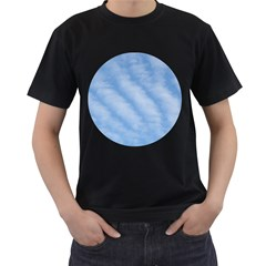 Wavy Clouds Men s T-Shirt (Black) (Two Sided)