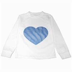 Wavy Clouds Kids Long Sleeve T-Shirts