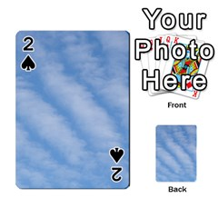Wavy Clouds Playing Cards 54 Designs