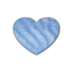 Wavy Clouds Rubber Coaster (Heart)